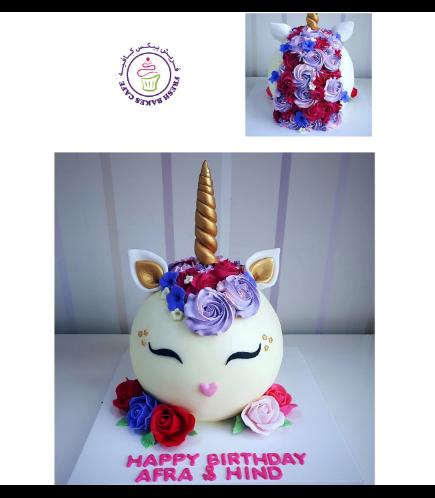 Cake - Unicorn - Fondant Cake - Round Shape 03