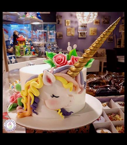 Cake - Picture - 2D Fondant - Front - 1 Tier 001