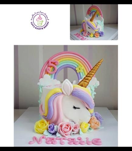 Cake - Picture - 2D Fondant - Front - 1 Tier 003a