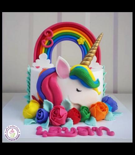 Cake - Picture - 2D Fondant - Front - 1 Tier 003b