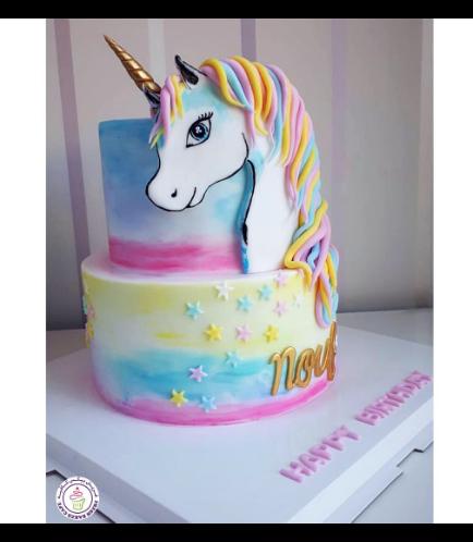 Cake - Picture - 2D Fondant - Front - 2 Tier 001a-1