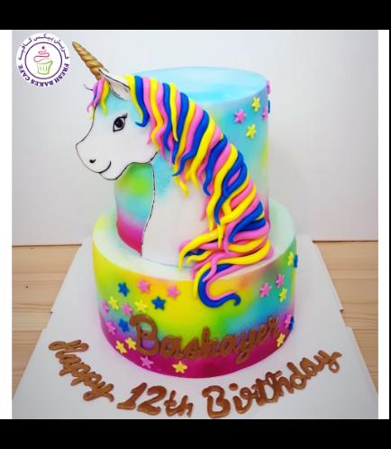 Cake - Picture - 2D Fondant - Front - 2 Tier 001b