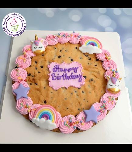 Unicorn Themed Chocolate Chip Cookie Cake 01