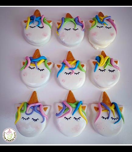 Unicorn Themed Chocolate Covered Oreos - Hair 01