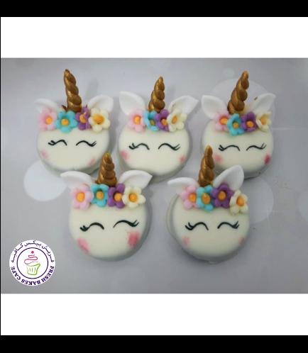 Unicorn Themed Chocolate Covered Oreos - Flowers 09