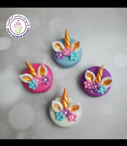 Unicorn Themed Chocolate Covered Oreos - Flowers 11