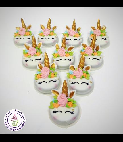 Unicorn Themed Chocolate Covered Oreos - Royal Icing 05