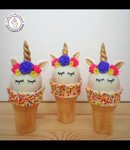 Cone Cake Pops - Flowers 02