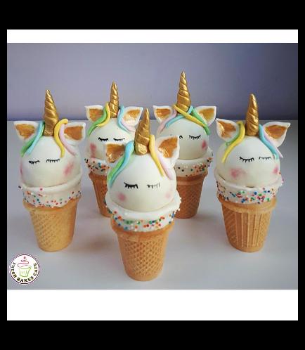 Unicorn Themed Cone Cake Pops 09