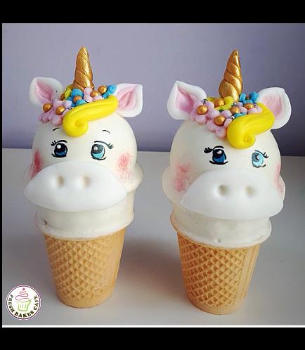 Unicorn Themed Cone Cake Pops 10