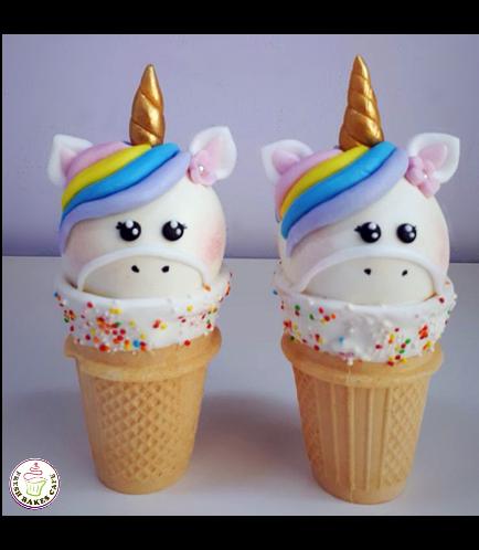 Unicorn Themed Cone Cake Pops 12