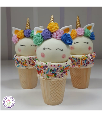 Cone Cake Pops - Flowers 03a