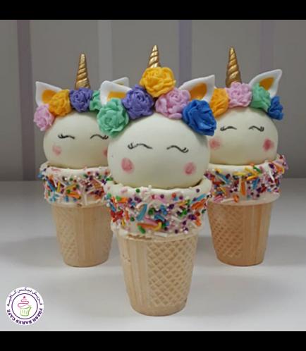 Unicorn Themed Cone Cake Pops 13a
