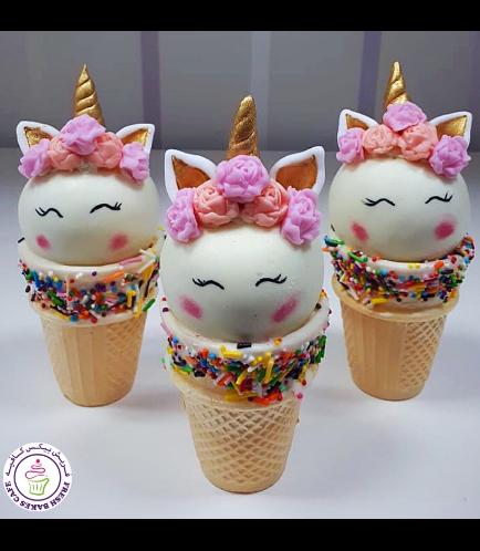 Unicorn Themed Cone Cake Pops 13b
