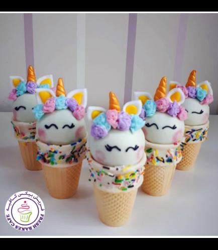 Cone Cake Pops - Flowers 03c