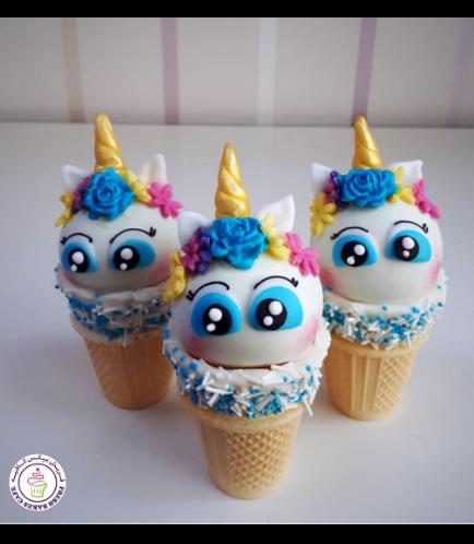 Unicorn Themed Cone Cake Pops 14