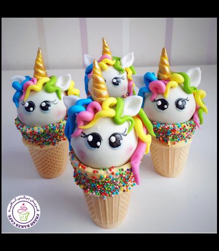 Unicorn Themed Cone Cake Pops 01