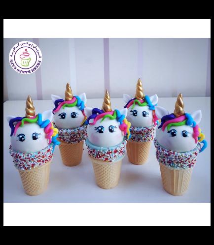Unicorn Themed Cone Cake Pops 16