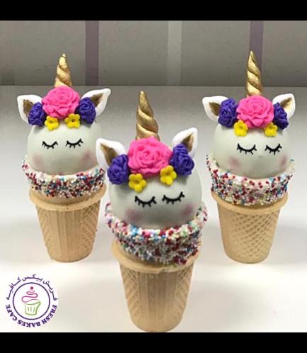 Cone Cake Pops - Flowers 12