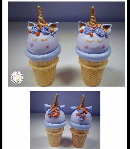Unicorn Themed Cone Cake Pops 03