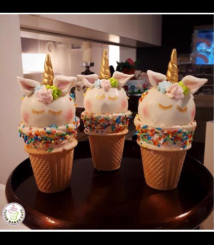 Unicorn Themed Cone Cake Pops 06a