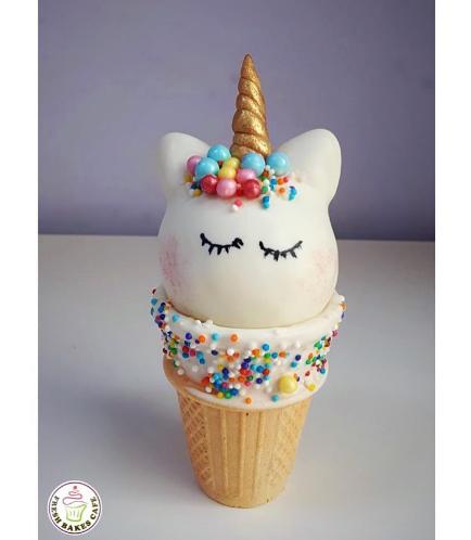 Unicorn Themed Cone Cake Pops 07