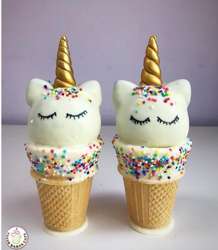 Unicorn Themed Cone Cake Pops 8