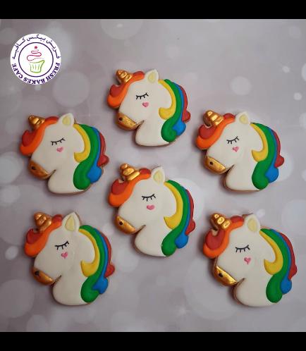 Cookies - Unicorn Head 03