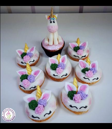 Unicorn Themed Cupcake & Donuts