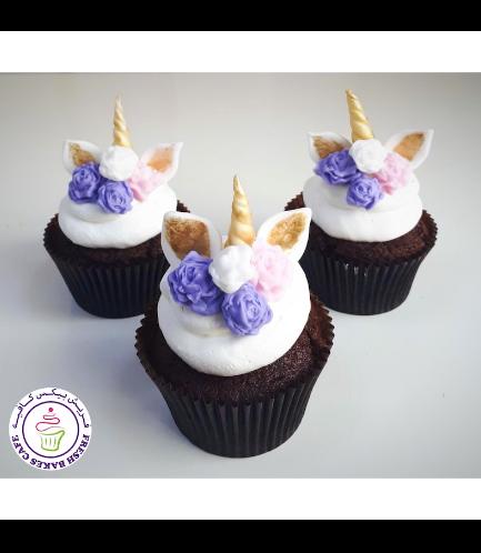 Cupcakes - Cream - Flowers 06