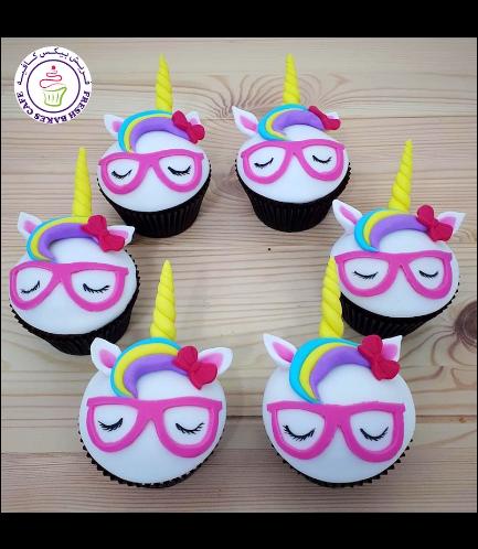 Cupcakes - Fondant - Glasses