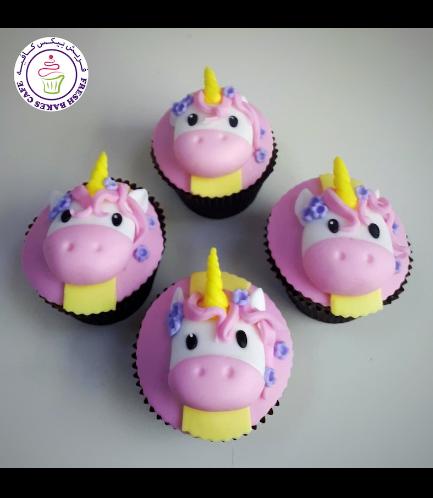 Cupcakes - Fondant - Unicorn Face - Front 03