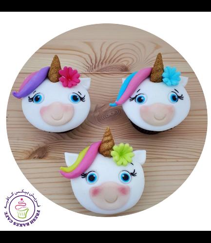Cupcakes - Fondant - Hair & Flowers 05