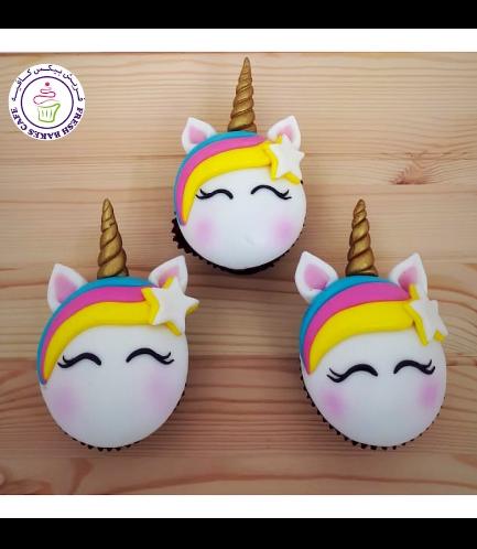 Cupcakes - Fondant - Hair & Star