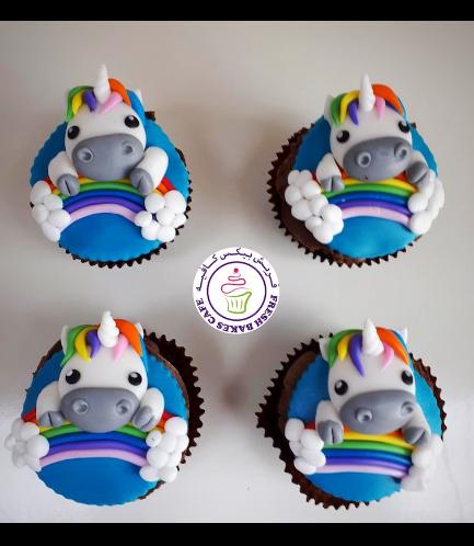 Cupcakes - Fondant - Rainbow