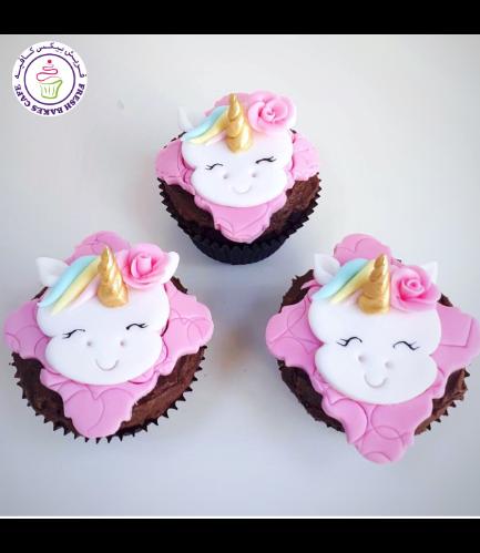 Cupcakes - Fondant - Unicorn Face - Front 01