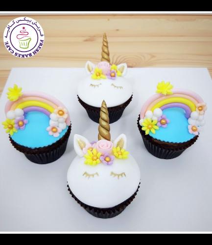 Cupcakes - Fondant - Unicorn & Rainbow 02