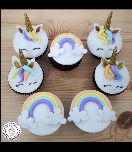 Cupcakes - Fondant - Unicorn & Rainbow 03