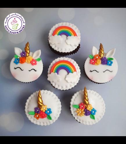 Cupcakes - Fondant - Unicorn & Rainbow 04