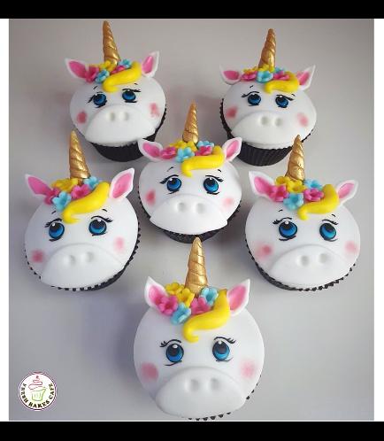 Cupcakes - Fondant - Hair & Flowers 02