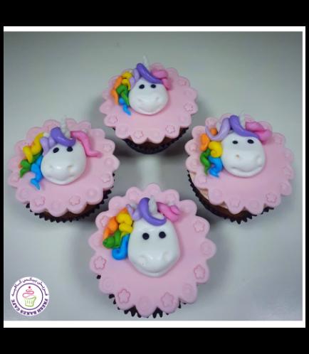 Cupcakes - Fondant - Unicorn Face - Front 02