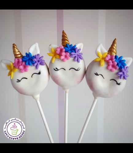 Unicorn Themed Donut Pops - Flowers 05