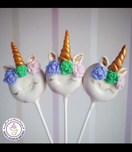 Unicorn Themed Donut Pops - Flowers 06