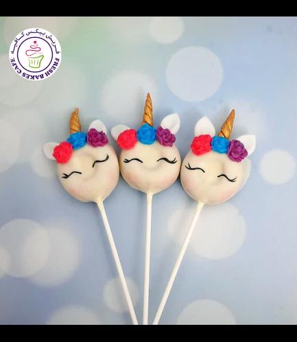 Unicorn Themed Donut Pops - Flowers 08