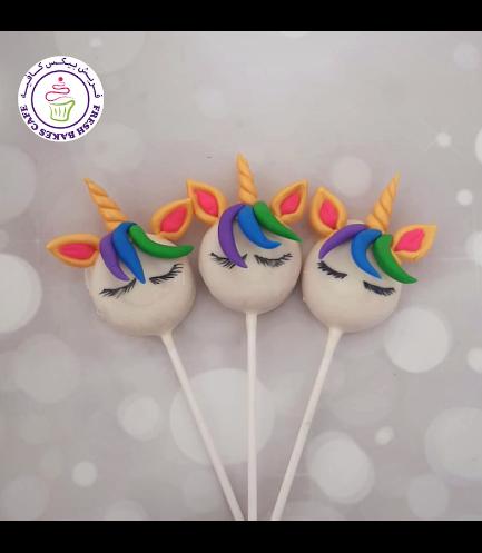 Unicorn Themed Donut Pops - Hair 06