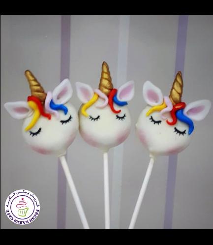 Unicorn Themed Donut Pops - Hair 08