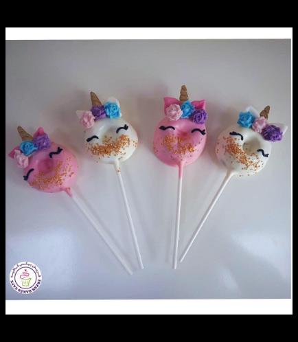 Unicorn Themed Donut Pops - Flowers 02