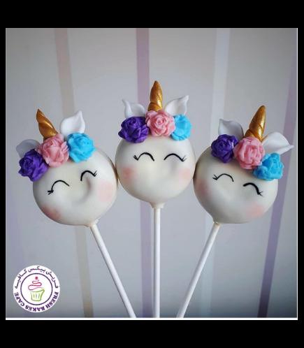 Unicorn Themed Donut Pops - Flowers 03