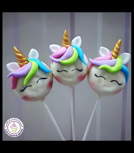 Unicorn Themed Donut Pops - Hair 01