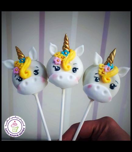 Unicorn Themed Donut Pops - Hair & Flowers